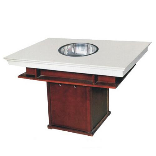 实木桌角火锅桌_大理石桌面火锅桌椅批发_红色大理石桌椅