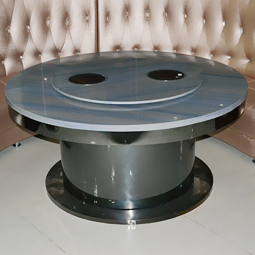火锅桌厂家直销 电动单人一人一锅电磁炉自助烧烤大理石火锅桌椅