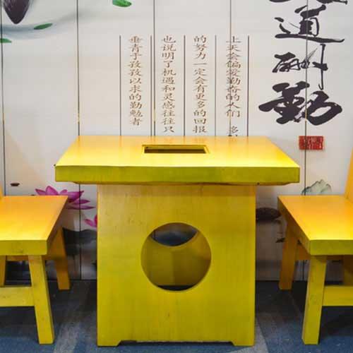实木火锅桌厂家供应 无油烟全实木火锅桌椅