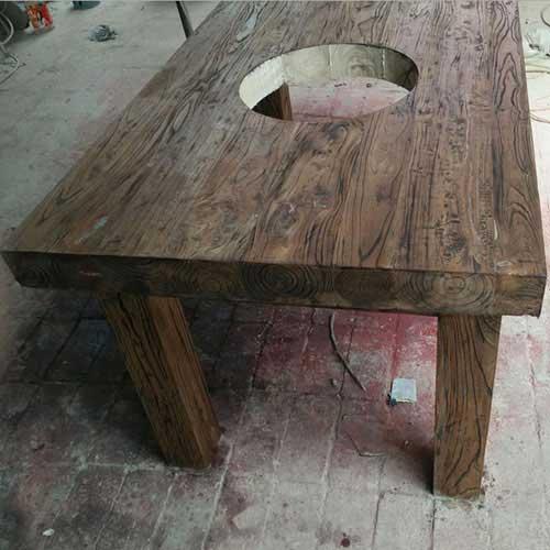 海德利家具深圳厂家供应 4人位实木火锅餐桌