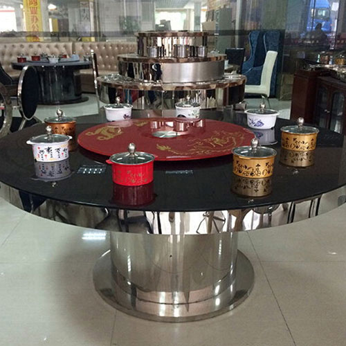 火锅桌厂家直销 电动单人一人一锅电磁炉自助烧烤不锈钢火锅桌椅