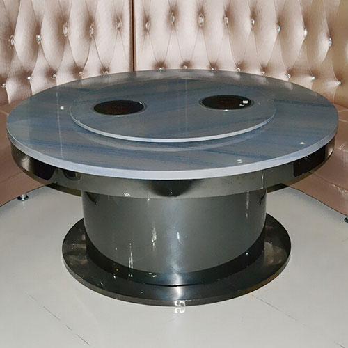 火锅桌厂家直销 酒店火锅店单人小不锈钢玻璃电磁炉火锅桌椅组合