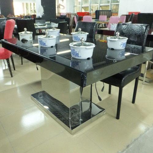 玻璃火锅桌,电磁炉火锅桌,分餐火锅桌