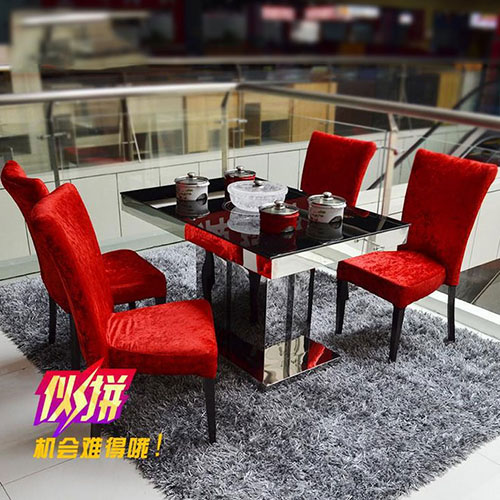 不锈钢玻璃钢火锅桌,玻璃火锅桌椅厂家定做,加盟火锅桌椅批发