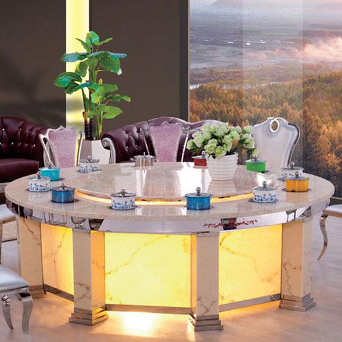 厂家特价 火锅桌 大理石电磁炉火锅桌椅