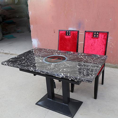方形大理石火锅桌,电磁炉火锅桌价格,新款时尚火锅桌子