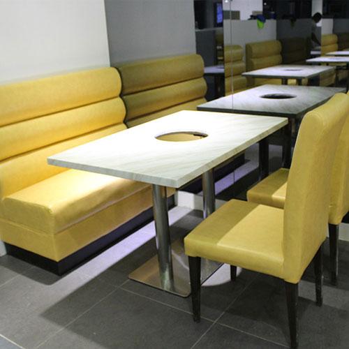 大理石火锅桌价格,四人火锅桌尺寸,火锅桌卡座组合