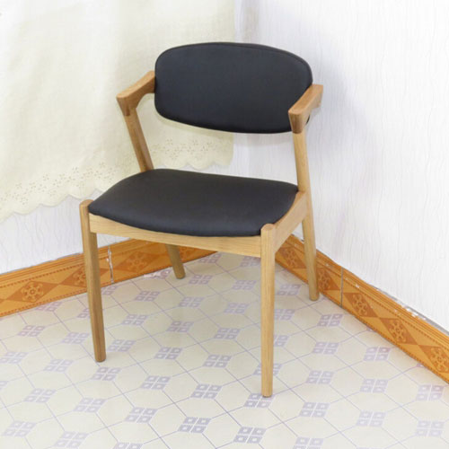 火锅橡木餐椅实木火锅椅水曲柳硬靠餐椅现代火锅椅