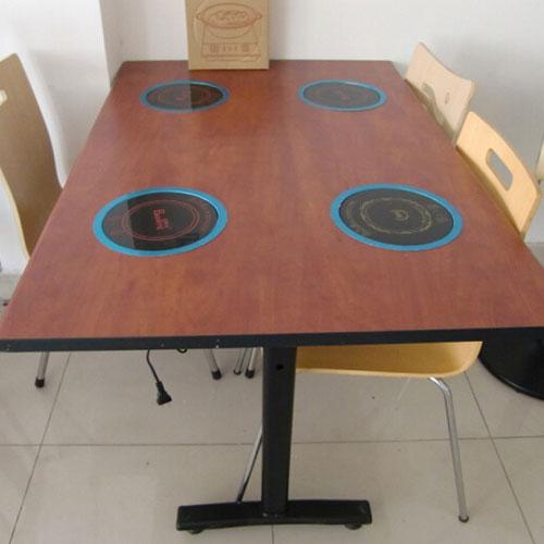 防火板火锅桌,电磁炉火锅桌,四人火锅桌