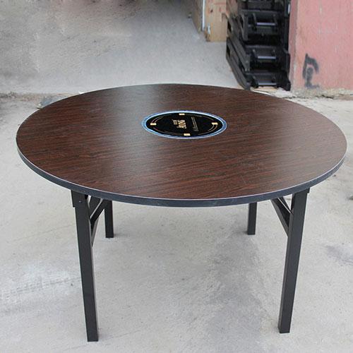 圆形防火板火锅桌子,可折叠火锅桌定做,火锅桌多少钱一张