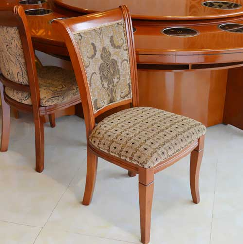 简约现代靠背椅 实木餐椅电脑餐厅椅子凳子  谭鱼头火锅店休闲椅子