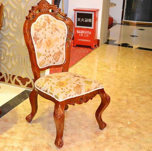 酒店餐桌椅 现代简约餐厅橡木全实木餐椅东来顺火锅店凳子
