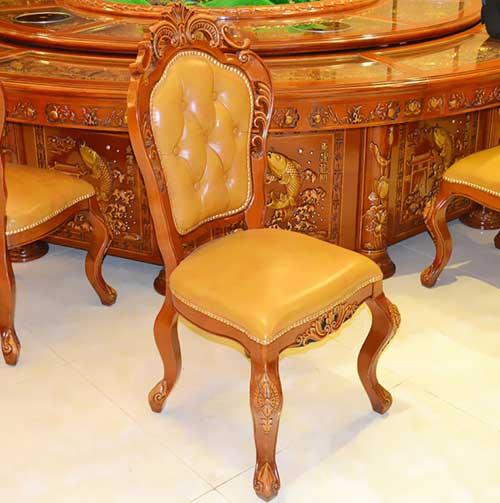 实木餐椅 简约餐桌椅餐厅橡木椅子 靠背椅凳子全实木秦妈火锅店椅子