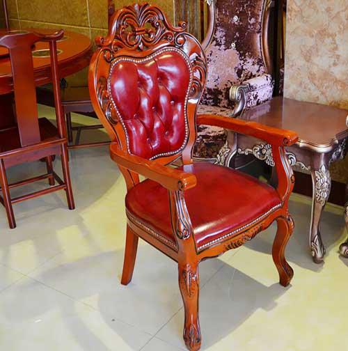 全实木餐椅 简约现代宜家白色靠背椅子 酒店休闲橡木座椅餐厅椅子