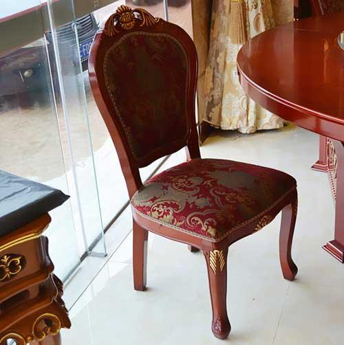 牛角椅 实木餐椅时尚简约餐厅宜家布艺小肥羊火锅吃饭椅 北欧设计师椅子