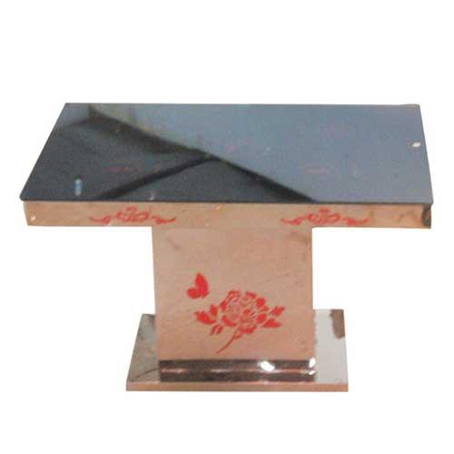 钢化玻璃火锅桌椅组合长方形现代简约小户型餐桌特价定做