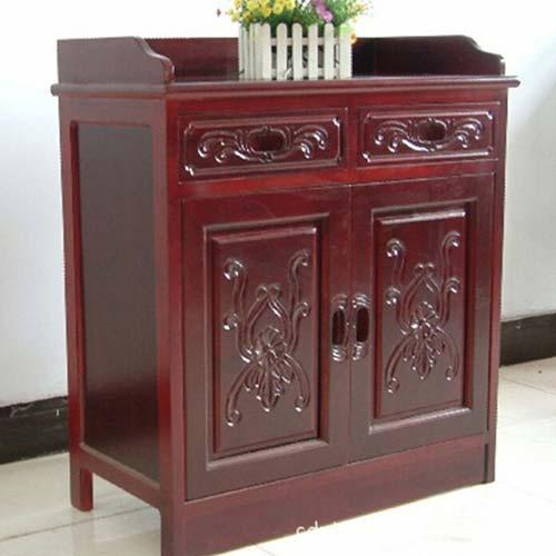 中式餐边柜 全实木储物柜 火锅店备餐柜