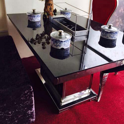 新品自助餐厅不锈钢火锅烧烤一体桌 烤涮一体桌 不锈钢火锅一体桌