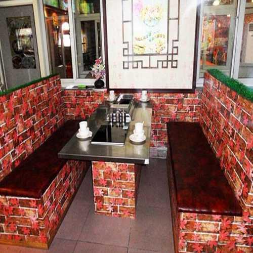 汉釜宫韩式不锈钢烧烤火锅一体桌,不锈钢火锅烤肉一体桌
