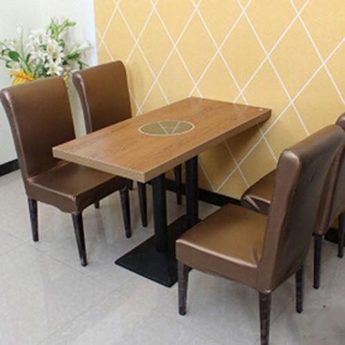 火锅桌椅厂家直销 火锅圆桌 防火板火锅桌 煤气灶火锅桌