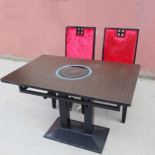 厂家直销 防火板火锅桌 餐桌 实木火锅桌 电磁炉火锅桌