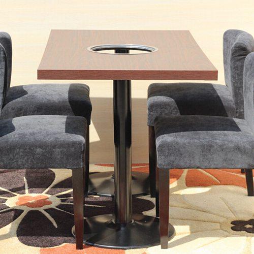 电磁炉火锅桌椅 韩式铸铁火锅桌椅 防火板火锅桌