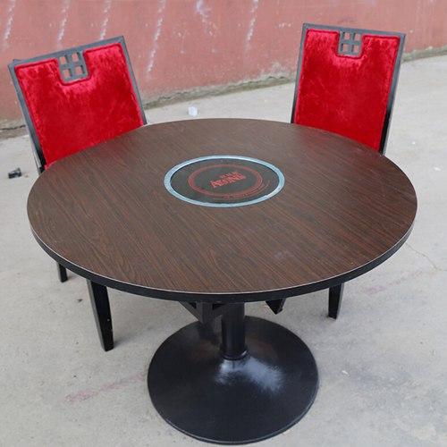 苏州电磁炉火锅桌 防火板火锅桌  煤气灶火锅桌子