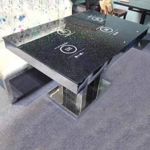 厂家直销电磁炉火锅桌大理石火锅桌煤气