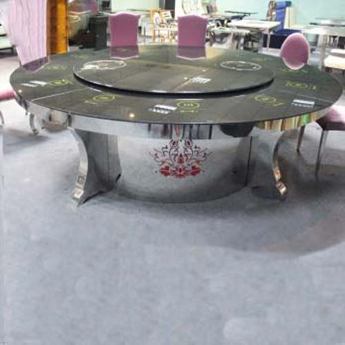 无烟火锅桌椅 汉釜宫韩式烧烤桌椅 煤气