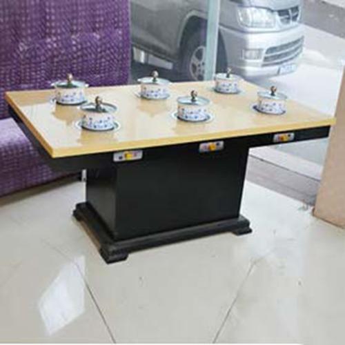 六人火锅桌,电磁炉火锅桌,大理石火锅桌