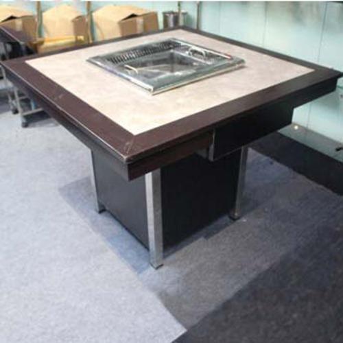 韩式烧烤火锅桌 复古电磁炉无烟火锅桌
