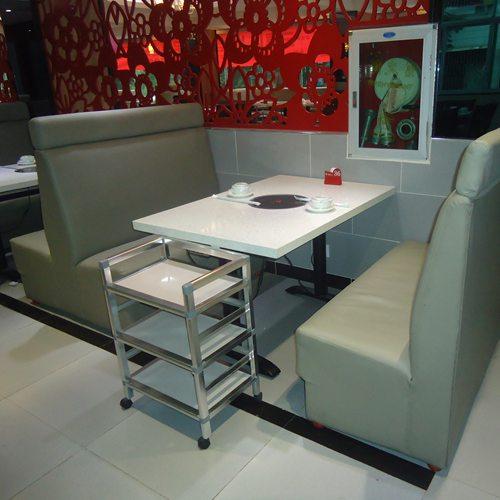 火锅桌卡座,四人火锅桌,电磁炉火锅桌
