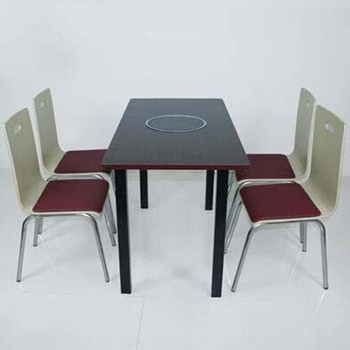 无烟火锅桌椅 防火板韩式烧烤桌椅电磁