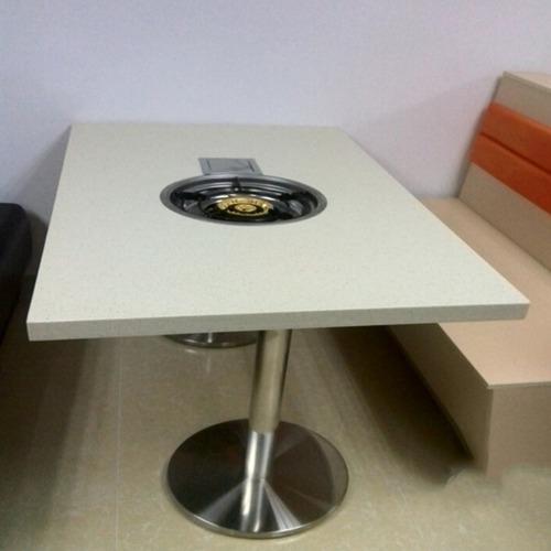 大理石火锅桌椅子组合电磁炉批发煤气火