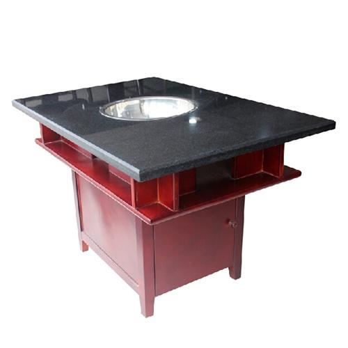 定做大小实木火锅桌店餐椅子 韩式自助