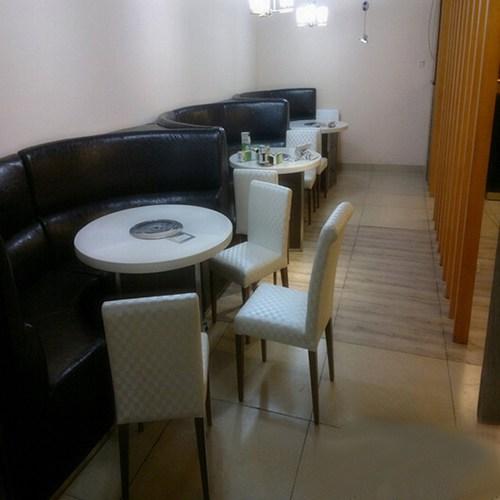 西餐厅弧形卡座沙发 火锅店时尚沙发组合