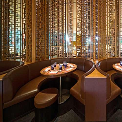 茶餐厅多人弧形沙发 火锅店卡座沙发