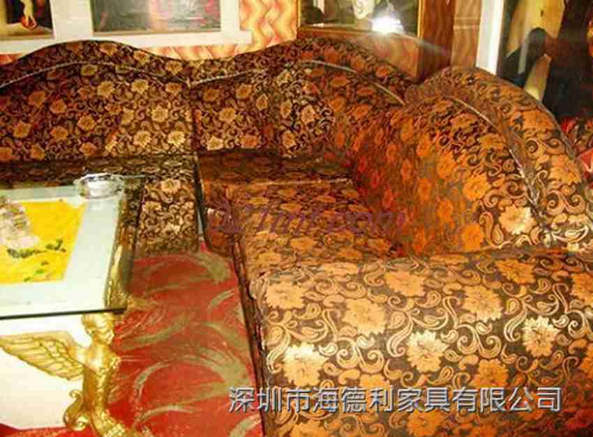 茶餐厅弧形卡座沙发 火锅店沙发组合