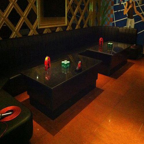 火锅店时尚弧形沙发组合 韩式料理店卡座沙发