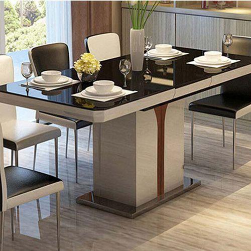 正方形火锅桌 钢化玻璃餐桌椅组合 刘一手火锅桌定做