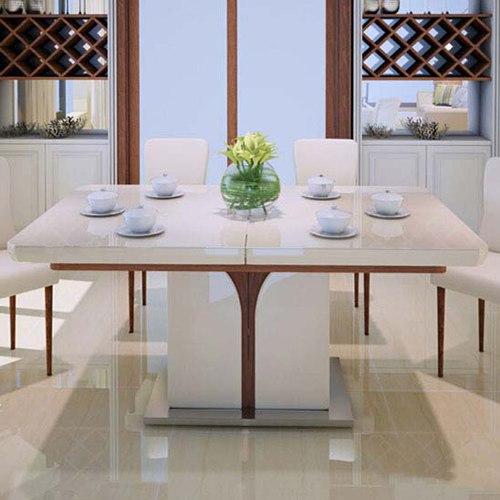 电磁炉餐桌椅组合 简约现代烤漆餐桌 长方形钢化玻璃餐桌椅