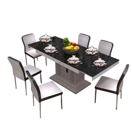 钢化玻璃火锅桌 小户型 现代简约家居玻璃餐桌