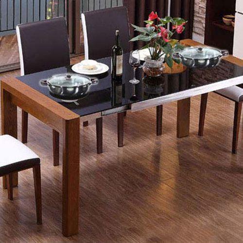 不锈钢火锅店餐桌 钢化玻璃餐桌 长方形火锅桌子 特价可定做