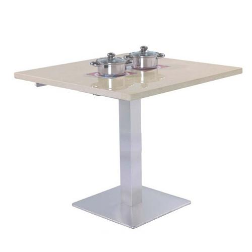 钢化玻璃餐桌 呷哺呷哺火锅桌 时尚火锅桌子批发