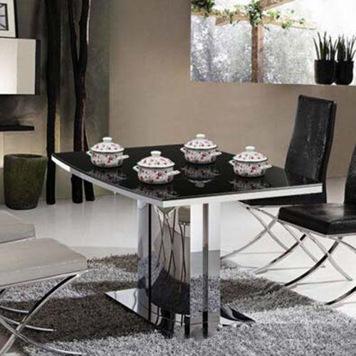 玻璃餐桌椅组合钢化玻璃火锅桌子 百年老妈火锅桌批发