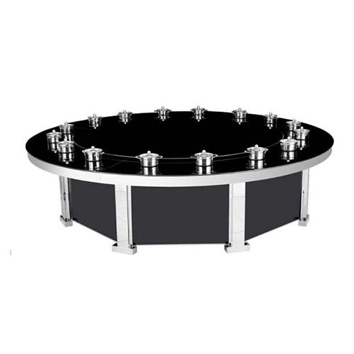 钢化玻璃餐桌椅组合 奇火锅桌 小户型简约现代餐桌台饭桌子