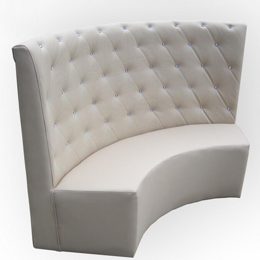 西餐厅弧形沙发 饭店包厢简约软包卡座 火锅店圆形弧形卡座沙发