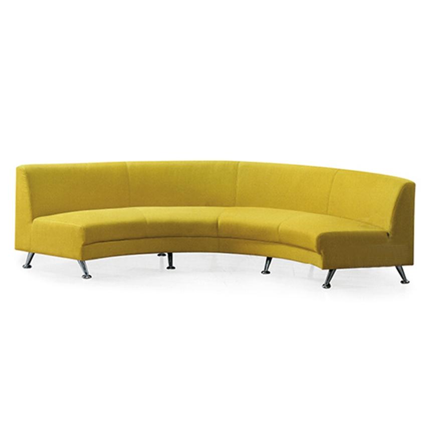 半圆型茶楼布艺沙发 舒适KTV弧形沙发 火锅店时尚弧形卡座沙发