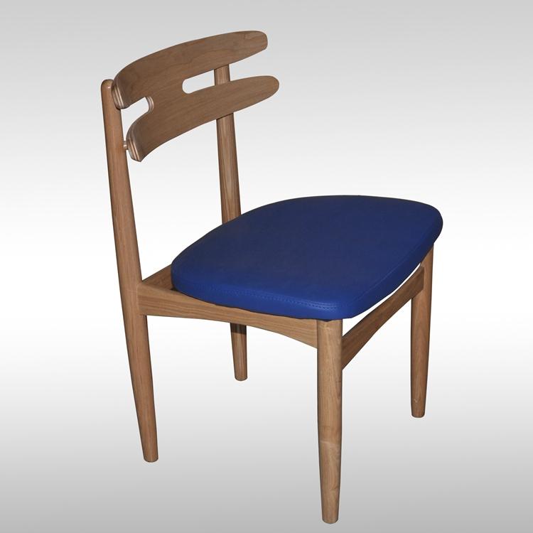 美式牛角餐椅 仿古实木椅子 咖啡椅酒店休闲椅 桦木椅子