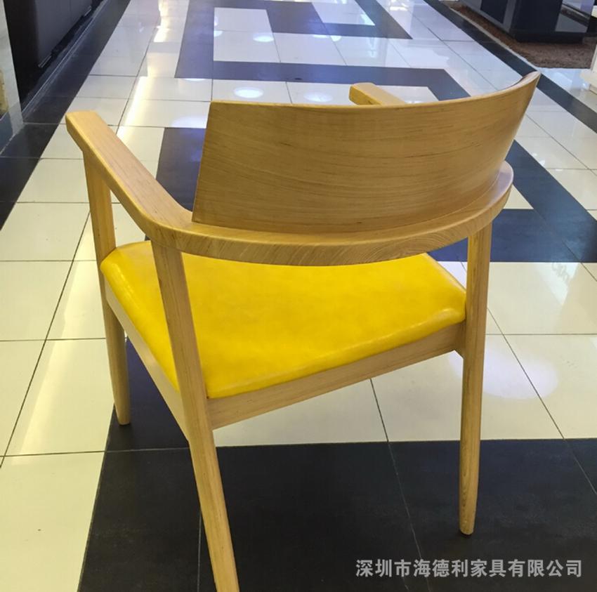 【欧式餐椅实木椅咖啡椅实木火锅椅洽谈皮椅子】广东